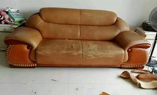 皮沙发翻新维修