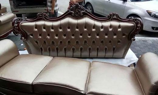 欧式皮沙发翻新